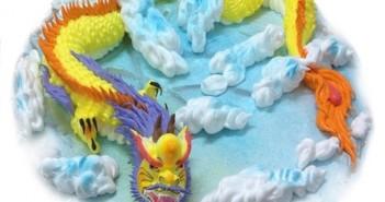 Những chiếc bánh sinh nhật hình con rồng trong vô cùng đáng yêu nhé 3