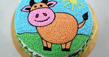 Những hình ảnh bánh sinh nhật hình con dê vô cùng đáng yêu và dễ thương nhé 1