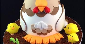 Những hình ảnh bánh sinh nhật hình con gà dễ thương và quá đáng yêu 10