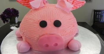 Những hình ảnh bánh sinh nhật hình con heo dễ thương và đáng yêu 7