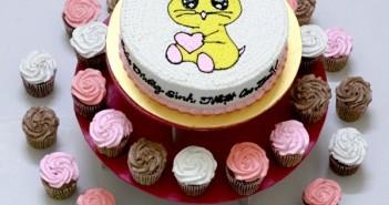 Những hình ảnh bánh sinh nhật theo hình con chuột vô cùng tinh nghịch nhé 3