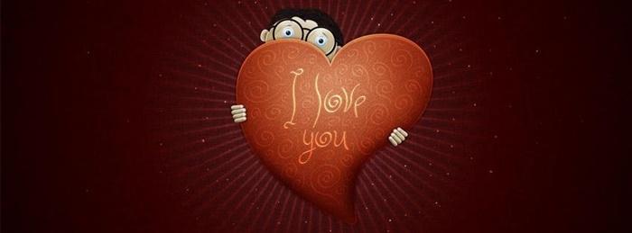 Bộ ảnh bìa facebook chữ I Love You đẹp lãng mạn và ấn tượng 7