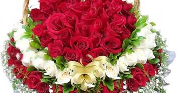 Những giỏ hoa hồng tình yêu dễ thương và xinh xắn dành tặng 20-10 9