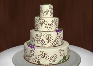 Những hình ảnh bánh kem cưới đẹp lãng mạn và lung linh nhất 1