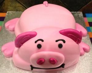 Những hình ảnh bánh sinh nhật hình chú heo trong cực dễ thương 1