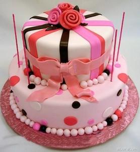Những hình ảnh bánh sinh nhật màu hồng vô cùng dễ thương và lãng mạn 4
