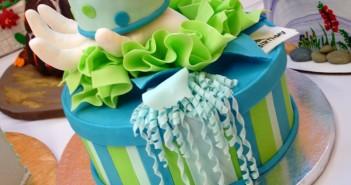 Những hình ảnh bánh sinh nhật với gam màu xanh tuyệt đẹp vô cùng 8