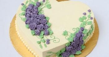 Những hình ảnh bánh sinh nhật với màu tím lãng mạn sẽ là sự lựa chọn tuyệt vời 6