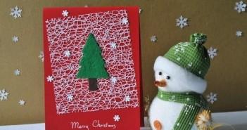 Thiệp giáng sinh handmade đẹp đơn giản cho mọi người trổ tài khéo tay mang lại may mắn cho giáng sinh cùng năm mới 4