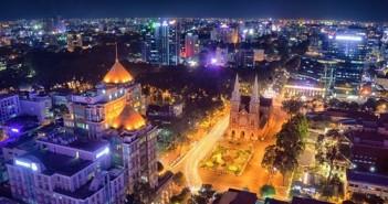 Hình ảnh giáng sinh đẹp nhất tai Sài Gòn noel 2015 tết dương lịch 2016 2