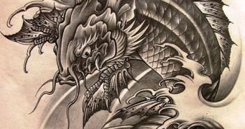 Hình ảnh cá chép hóa rồng đẹp vô cùng ấn tượng cho ngày cúng ông táo về trời 4