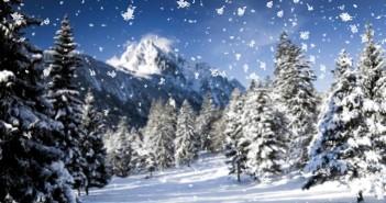 Hình ảnh tuyết rơi mùa đông vô cùng đẹp và lý tưởng để làm hình nền máy tính 4