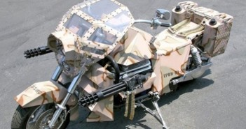 Hình ảnh những chiếc xe máy độ phong cách nhà binh cực ngầu dành cho người đam mê-7