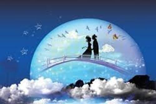 Hình ảnh ngưu lang chức nữ gặp nhau trên cầu ô thước ngày 7 tháng 7 âm lịch  6