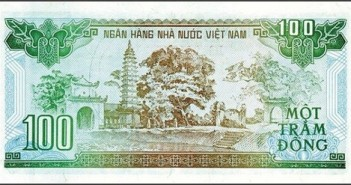 Hình ảnh tiền Việt Nam cùng các địa danh được in trên các mệnh giá 1